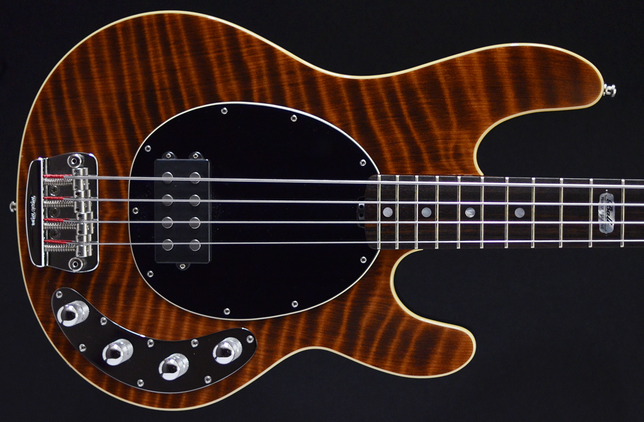 stingray 4 bfr redwood 2008 second hand bass guitar stock used preowned maple neck active. Black Bedroom Furniture Sets. Home Design Ideas